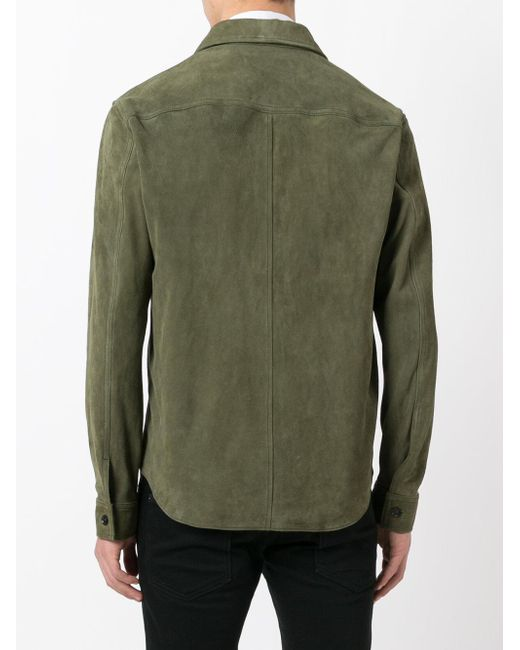 Our Legacy Zipped Suede Jacket In Green For Men Lyst