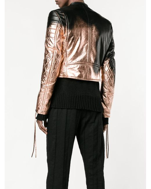 haider ackermann spray paint biker jacket in black for men