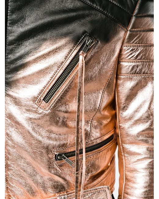 black leather spray paint biker jacket from haider ackermann material. Black Bedroom Furniture Sets. Home Design Ideas