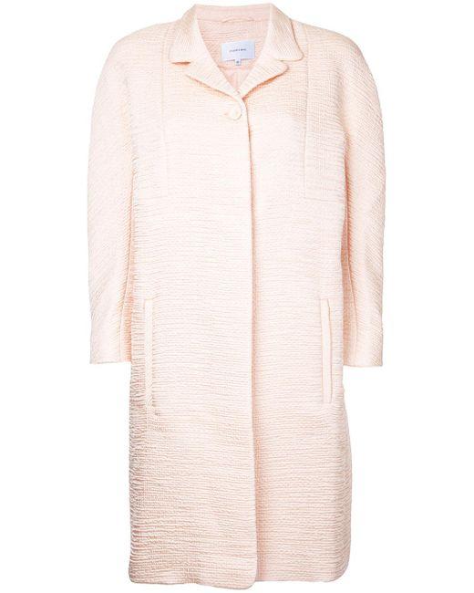 Carven | Pink Textured Midi Coat | Lyst
