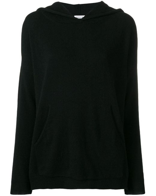 P.A.R.O.S.H. - Black Cashmere Knitted Hoodie - Lyst