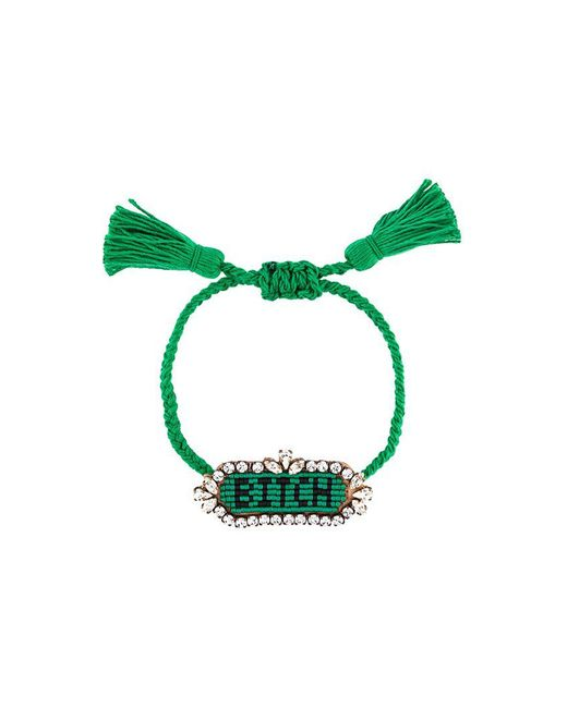 Shourouk | Green 'bitch' Beaded Bracelet | Lyst