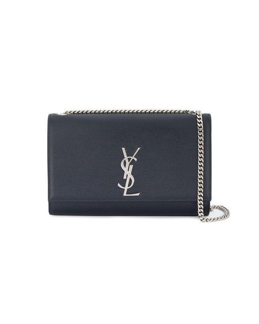 Saint Laurent - Blue Monogram Medium Shoulder Bag - Lyst