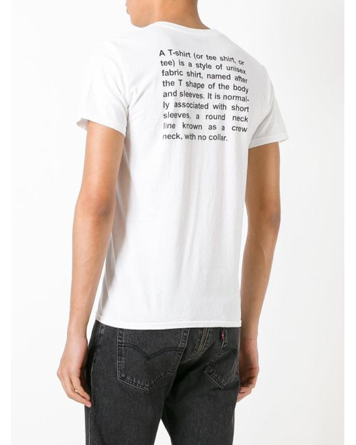 Vetements 39 X Hanes 39 Printed T Shirt In White For Men Lyst