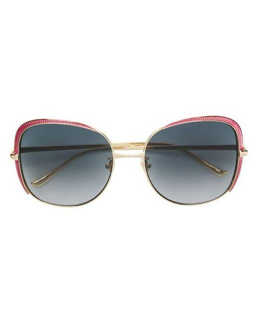 0e5603c3f91 Gucci - Metallic Oversized Frames Sunglasses - Lyst ...