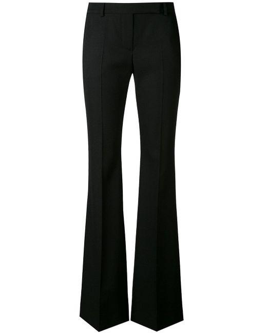 Alexander McQueen | Black Wide Leg Cropped Trousers | Lyst