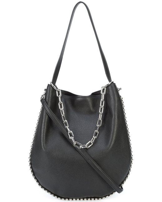 Alexander wang Roxy Hobo Shoulder Bag in Black | Lyst