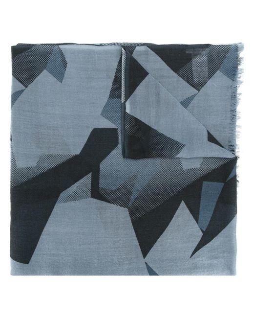 Closed | Blue Geometric Pattern Scarf for Men | Lyst