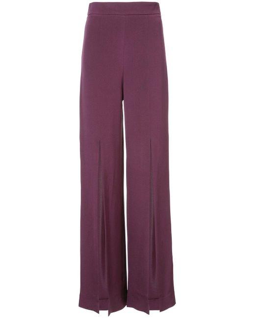 Cushnie et Ochs | Purple Slit Wide-leg Trousers | Lyst