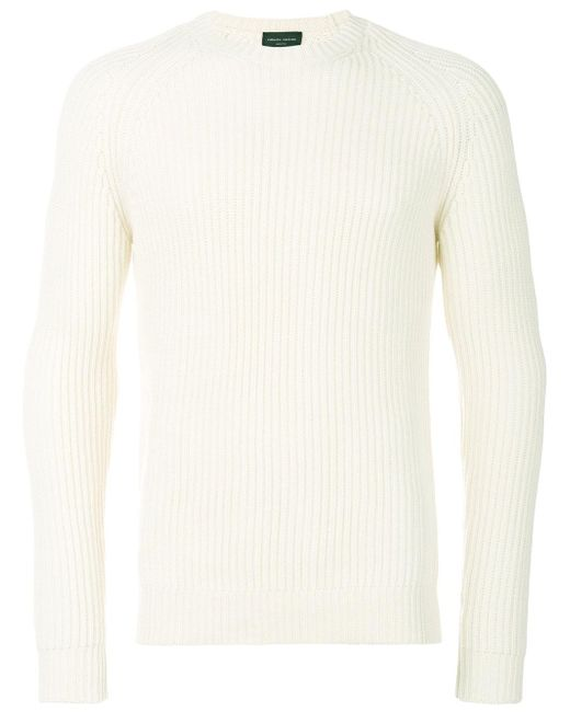Roberto Collina | White Classic Knitted Sweater for Men | Lyst