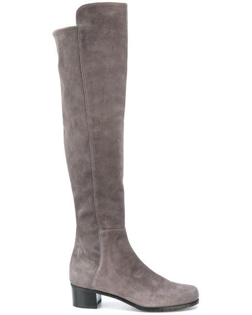 Stuart Weitzman | Gray All Serve Knee High Boots | Lyst