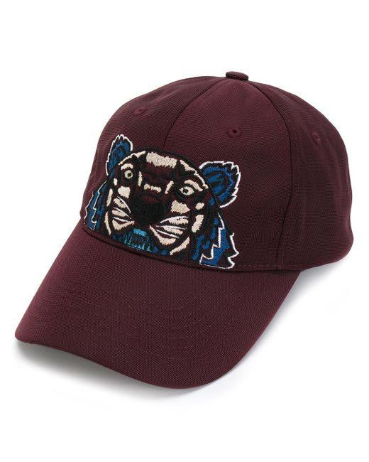 KENZO | Purple Tiger Embroidered Cap for Men | Lyst
