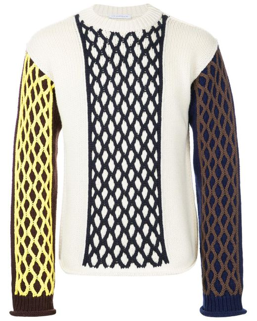 J.W. Anderson   White Cable Knit Turtle Neck for Men   Lyst