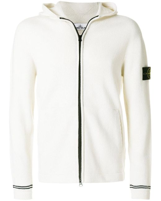 Stone Island | Multicolor Arm Patch Zipped Hoodie for Men | Lyst