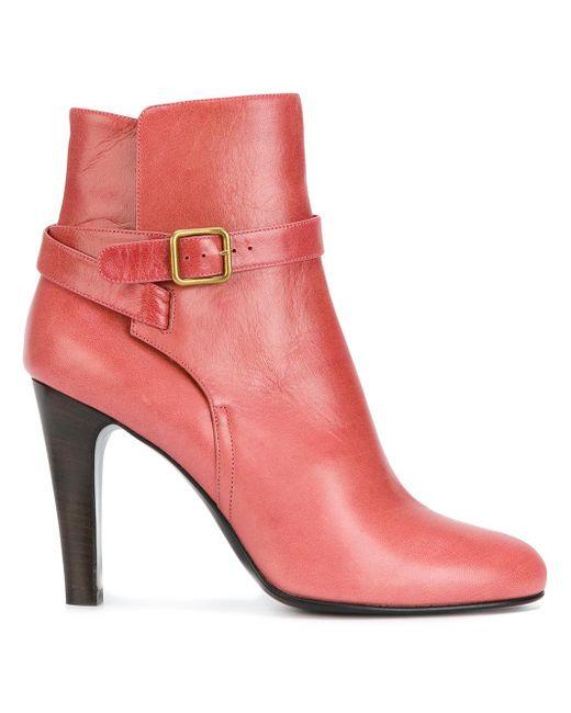 Michel Vivien | Pink Buckle Strap Detail Ankle Boots | Lyst