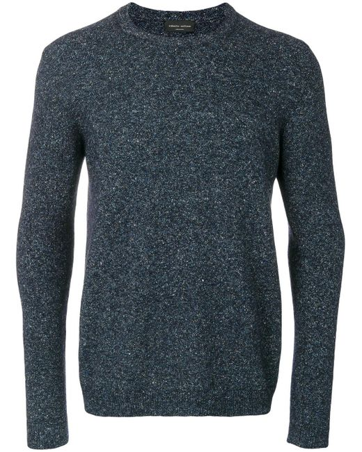 Roberto Collina | Blue Ribbed Trim Pullover for Men | Lyst