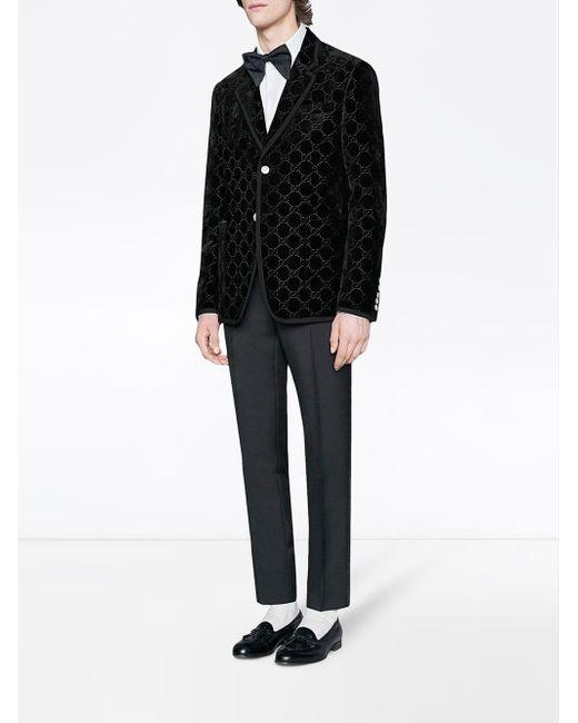 c279e2dc6 Gucci Palma GG Velvet Jacket in Black for Men - Save 11% - Lyst