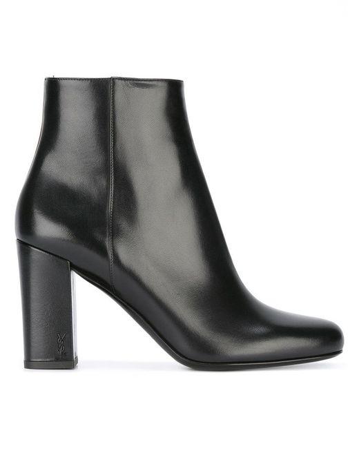 Saint Laurent   Black Babies 90 Ankle Boots   Lyst