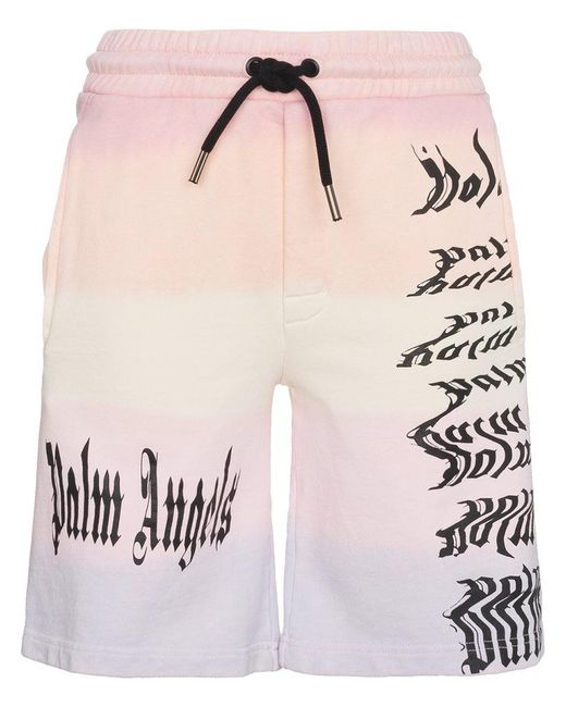 Palm Angels - Multicolor Low Rise Logo Print Board Shorts - Lyst