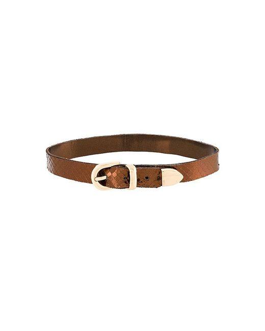 Manokhi - Brown Metallic Buckled Choker - Lyst
