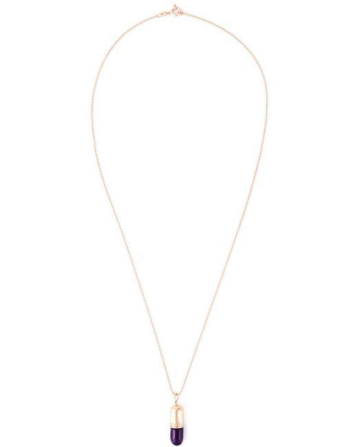 True Rocks | Purple Pill Pendant Necklace | Lyst