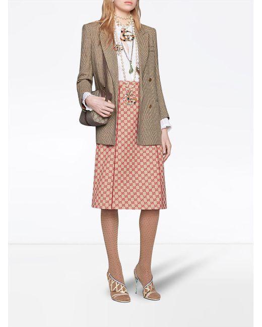 8dda9e8f0e6e ... Gucci - Brown Ophidia Small GG Supreme Shoulder Bag - Lyst ...