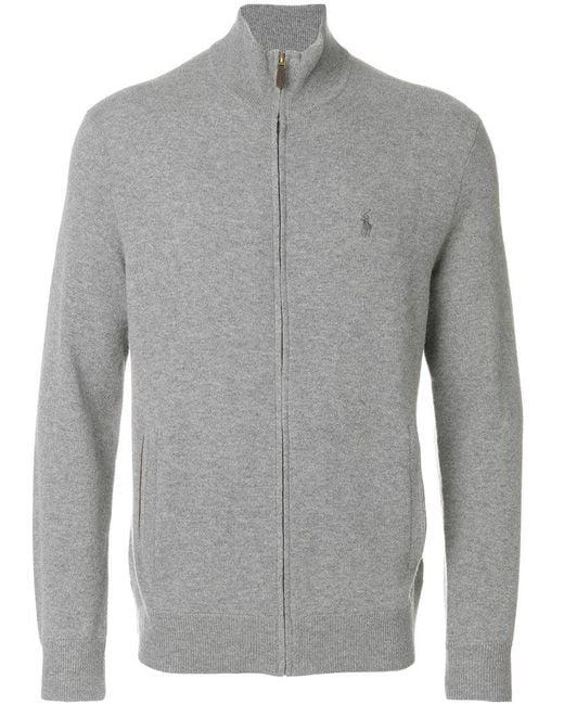Polo Ralph Lauren | Gray Zipped Cardigan for Men | Lyst