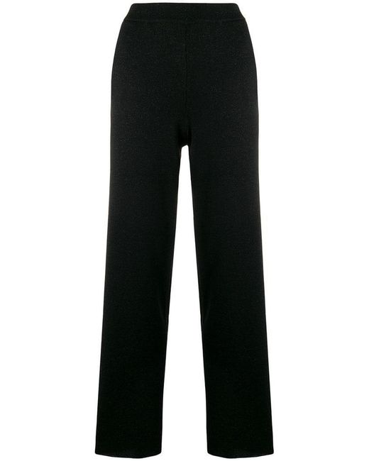 L'Autre Chose - Black Straight Leg Trousers - Lyst
