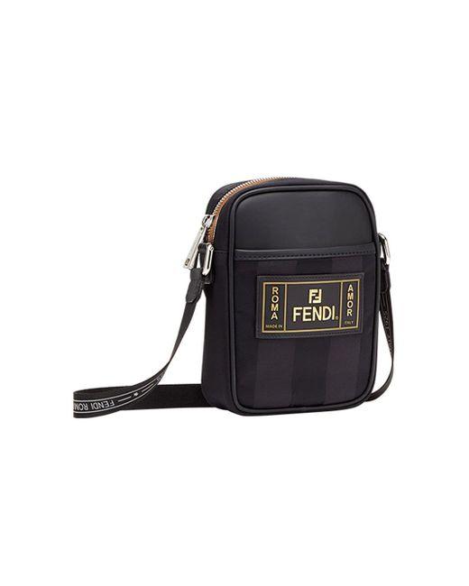 b94de318b897 ... Fendi - Black Small Cross Body Bag for Men - Lyst ...