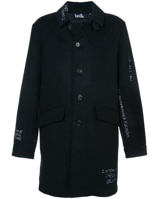 Haculla - Black Skribble Trench Coat for Men - Lyst