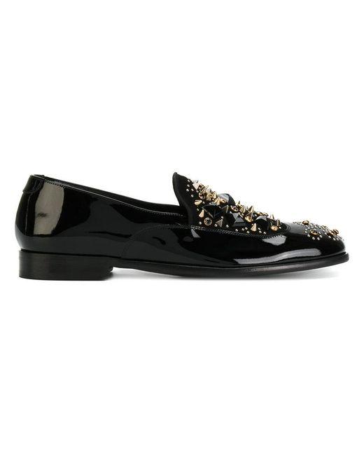 Dolce & Gabbana - Black Studded Slippers - Lyst