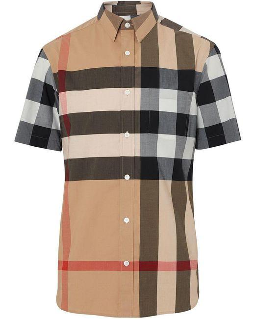 b4021ff206f Burberry - Multicolor Chemise en coton mélangé House check Windsor for Men  - Lyst ...