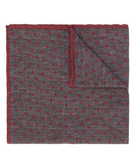 Eleventy - Gray Polka Dotted Scarf for Men - Lyst