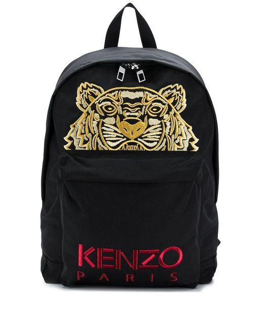 33de6e621fcf KENZO - Black Metallic Tiger Backpack - Lyst ...