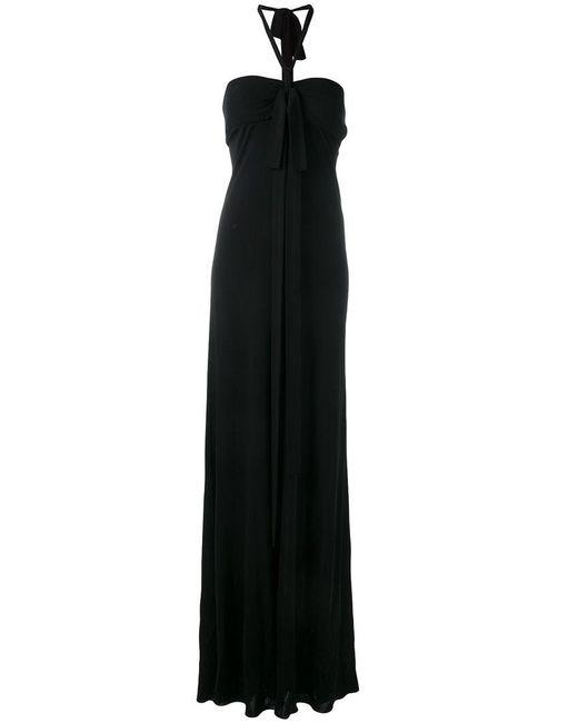 N°21 - Black Halter-neck Gown Dress - Lyst