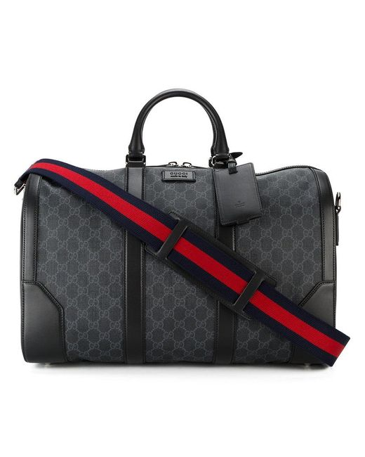 Gucci | Black Gg Supreme Soft Carry-on Duffle for Men | Lyst