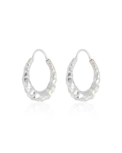 All_blues - Metallic Silver Baby Snake Earrings - Lyst