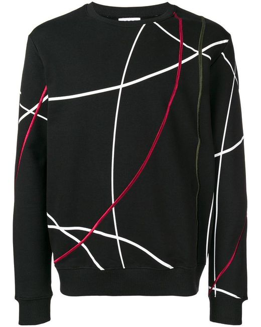 Les Hommes - Black Printed Sweater for Men - Lyst