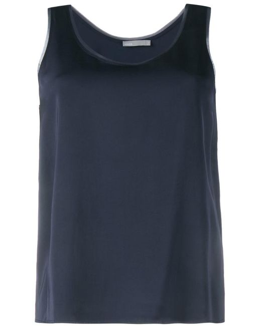 Vince | Blue Raw Edge Tank Top | Lyst