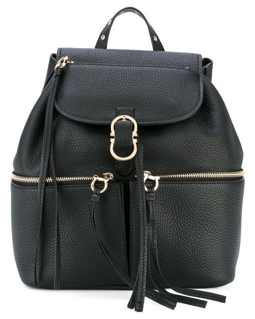 Ferragamo | Black 'carol' Backpack | Lyst