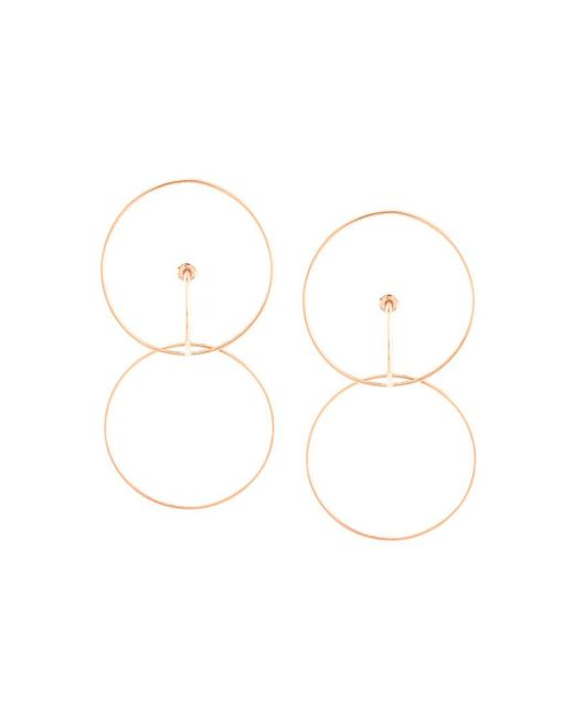Charlotte Chesnais - Metallic Hooked Hoops Earrings - Lyst