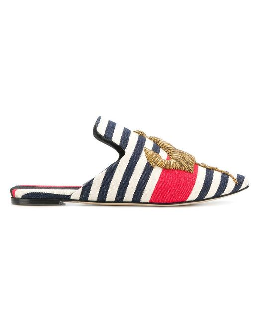 Sanayi 313 - Blue Striped Anchor Slippers - Lyst