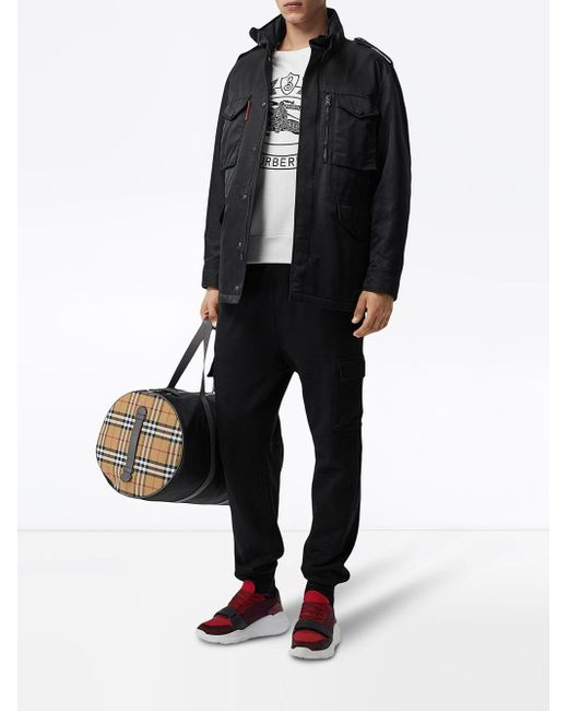 cbbec22bfadd Lyst - Burberry Packaway Hood Padded Field Jacket in Black for Men