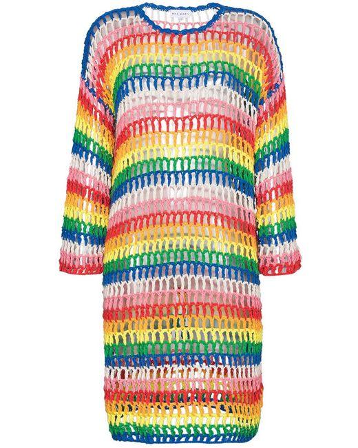 MIRA MIKATI - Multicolor Rainbow Open Hand Crochet Dress - Lyst