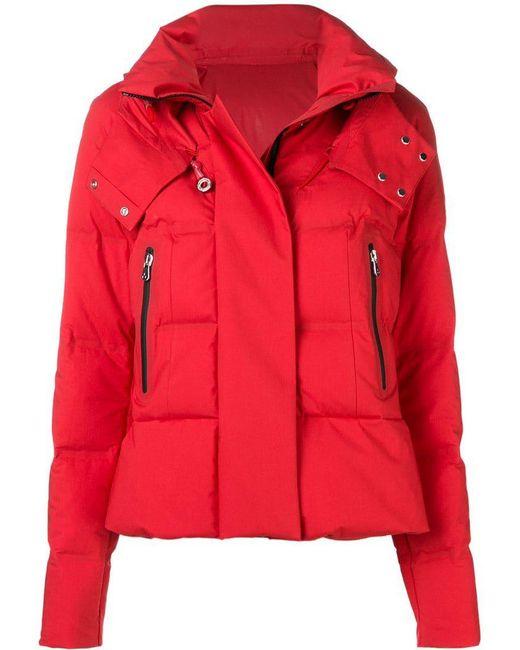 Peuterey - Red Short Puffer Jacket - Lyst