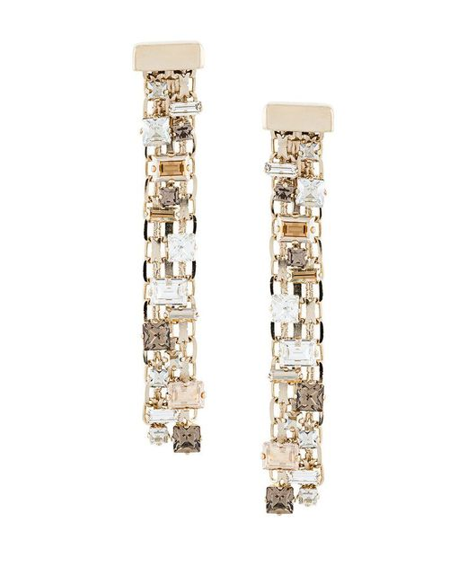 Lanvin | Metallic Embellished Chain Earrings | Lyst