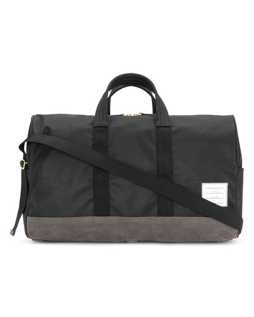 Thom Browne - Black Technical And Suede Holdall for Men - Lyst