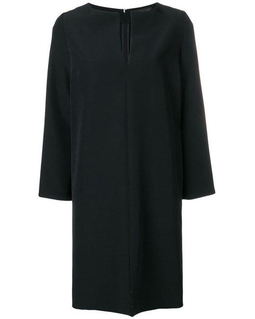 Gianluca Capannolo - Black Front Slit Dress - Lyst