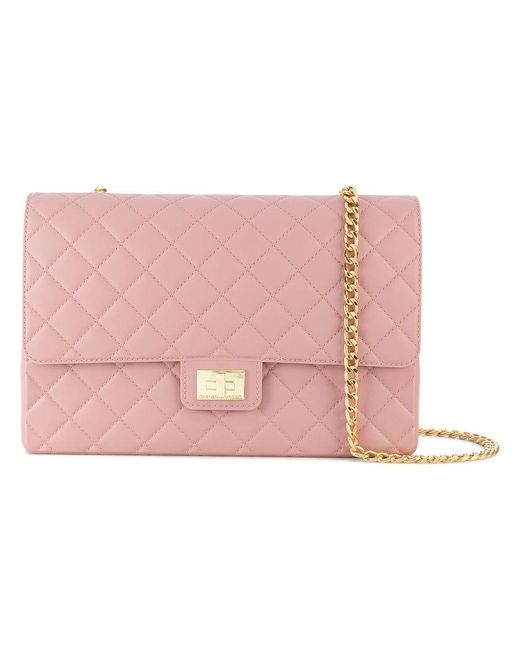 Designinverso | Pink Quilted Shoulder Bag | Lyst