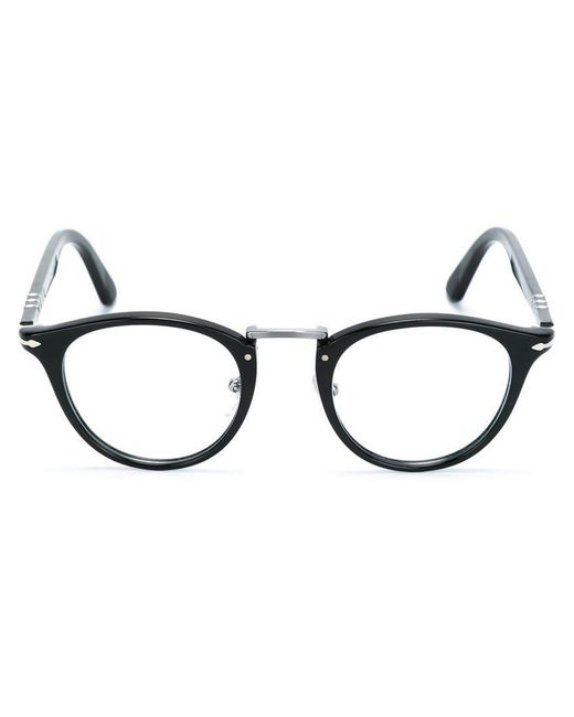 Persol - Black Round Frame Glasses - Lyst